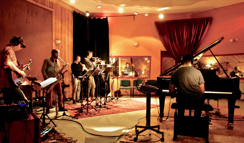 Enregistrement de Moving People au studio de la Buissonne en mai 2018